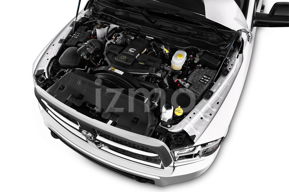 Car stock 2018 Ram Ram 3500 Tradesman Crew Cab Long 4 Door Pick Up engine high angle detail view