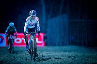 Annemarie Worst (NED/Steylaerts-777) in the sandbox<br /> <br /> women's race<br /> 44th Superprestige Diegem (BEL) 2018<br /> ©kramon