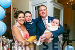 Parents Erica Quill and Declan Quill and brother Adam Quill from Ballyvelly, Tralee celebrate the Christening of baby matthew James at St. John's Church Tralee by Fr. Francis Nolan on Saturday. Enjoying a meal at Denny Lane with family and friends