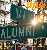 Primary photographer, including covers and feature stories, for UAA Spring 2018 Alumni Spirit Magazine.