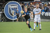 SAN JOSE, CA - SEPTEMBER 25: Florian Jungwirth #23 of the San Jose Earthquakes during a game between Philadelphia Union and San Jose Earthquakes at Avaya Stadium on September 25, 2019 in San Jose, California.
