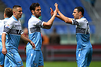Marco Parolo of Lazio celebrates wit team mates after scoring the goal of 1-0<br /> Roma 5-5-2019 Stadio Olimpico Football Serie A 2018/2019 SS Lazio - Atalanta <br /> Foto Andrea Staccioli / Insidefoto