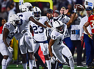 College Park, MD - NOV 25, 2017: Penn State Nittany Lions cornerback Zech McPhearson (14) recovers a fumble on a kickoff return during game between Maryland and Penn State at Capital One Field at Maryland Stadium in College Park, MD. (Photo by Phil Peters/Media Images International)