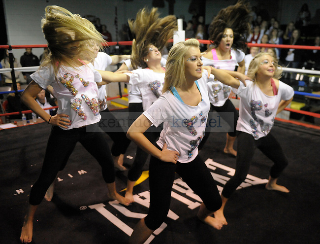 Kelsea Jones (center) and other Pi Beta Phi sorority members dance at the Sigma Chi Fraternity & Alpha Delta Pi Sorority sponsored The Main Event 2011 in Lexington, Ky. Photo by Mike Weaver |
