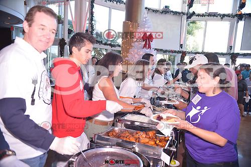 MIAMI, FL - NOVEMBER 22: Atmosphere during Gloria Estefan and Emilio Estefan 5th Annual Thanksgiving Feed A Friend at Bongos Cuban Cafe on November 22, 2012 in Miami, Florida. © MPI10/MediaPunch Inc /NortePhoto
