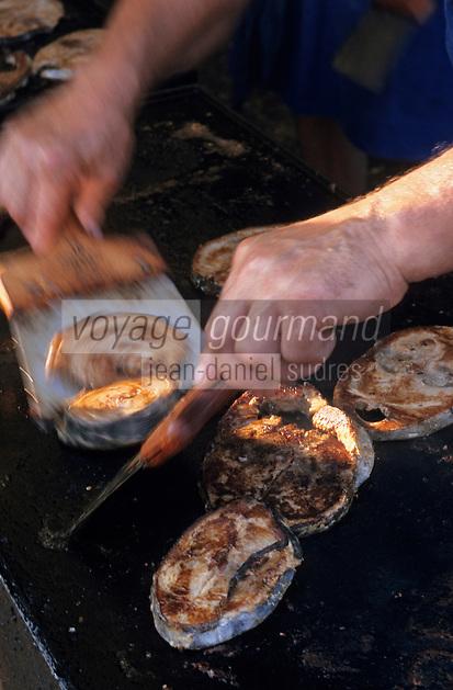 Europe/France/Aquitaine/64/Pyrénées-Atlantiques/Saint-Jean-de-Luz: Cuisson du thon lors de la fête du thon