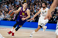 Sergi Martinez of Real Madrid and Thomas Heurtel of FC Barcelona Lassa during Turkish Airlines Euroleague match between Real Madrid and FC Barcelona Lassa at Wizink Center in Madrid, Spain. December 13, 2018. (ALTERPHOTOS/Borja B.Hojas) /NortePhoto.com