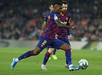 29th October 2019; Camp Nou, Barcelona, Catalonia, Spain; La Liga Football, Barcelona versus Real Valladolid;  Semedo lines up for a shot on goal