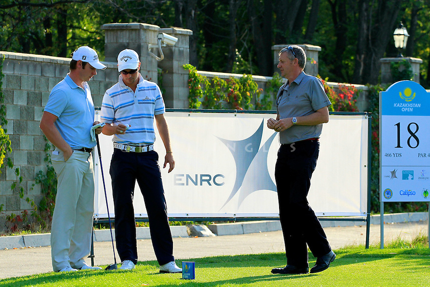 Alexander Levy (FRA) and Scott Henry (SCO) during the playoff round of the Kazakhstan Open played at Zhailjau Golf Resort, Almaty on September 16, 2012 in Almaty, Kazakhstan.(Picture Credit / Phil Inglis)