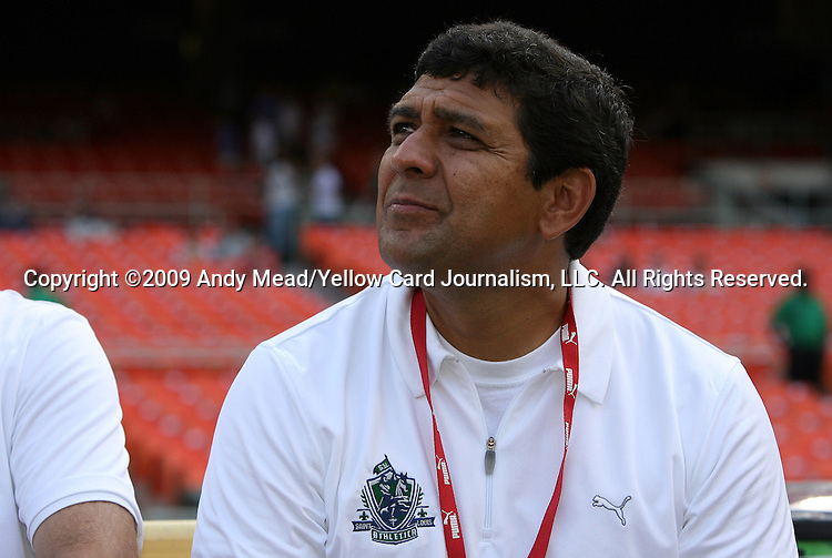 18 July 2009: Saint Louis head coach Jorge Barcellos (BRA). The Washington Freedom defeated Saint Louis Athletica 1-0 at the RFK Stadium in Washington, DC in a regular season Women's Professional Soccer game.