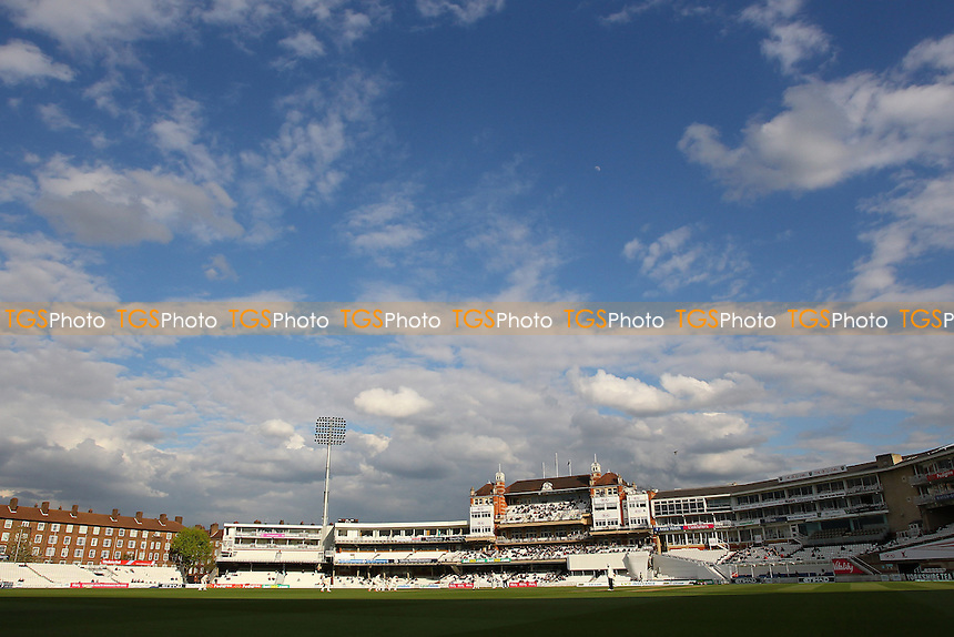 General view of play late on Day Two - Surrey CCC vs Essex CCC - LV County Championship Division Two Cricket at the Kia Oval, Kennington, London - 27/04/15 - MANDATORY CREDIT: Gavin Ellis/TGSPHOTO - Self billing applies where appropriate - contact@tgsphoto.co.uk - NO UNPAID USE