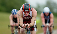 14 MAY 2010 - HOLME PIERREPONT, GBR - Simon Brierley - VUE National Emergency Services Triathlon Championships .(PHOTO (C) NIGEL FARROW)
