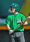 29 June 2012: Vermont Lake Monsters' outfielder Brett Vertigan awaits his turn in the batting cage prior to a game against the Lowell Spinners at Centennial Field in Burlington, Vermont. Mandatory Credit: Ed Wolfstein Photo