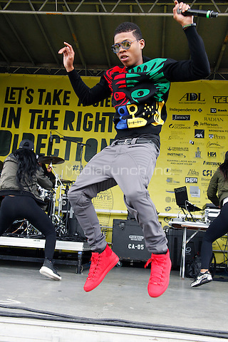 PHILADELPHIA, PA - MAY 15 :  Yazz The Greatest performs at the ADL No Hate Walk at the Navy Yard in Philadelphia, Pa on May 15, 2016  photo credit  Star Shooter / MediaPunch