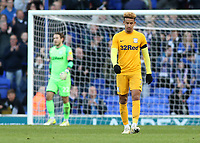 Preston North End's Callum Robinson cuts a dejected figure after going 1-0 behind<br /> <br /> Photographer David Shipman/CameraSport<br /> <br /> The EFL Sky Bet Championship - Ipswich Town v Preston North End - Saturday 3rd November 2018 - Portman Road - Ipswich<br /> <br /> World Copyright &copy; 2018 CameraSport. All rights reserved. 43 Linden Ave. Countesthorpe. Leicester. England. LE8 5PG - Tel: +44 (0) 116 277 4147 - admin@camerasport.com - www.camerasport.com