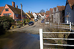Kersey village, Suffolk, England