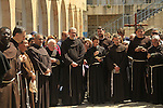 Israel, Jerusalem, the Custos of the Holy Land Fr. Pierbattista Pizzaballa ofm at the First station of the Via Dolorosa on Good Friday