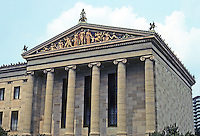 Philadelphia: Museum of Art, North side of approach. Photo '78.