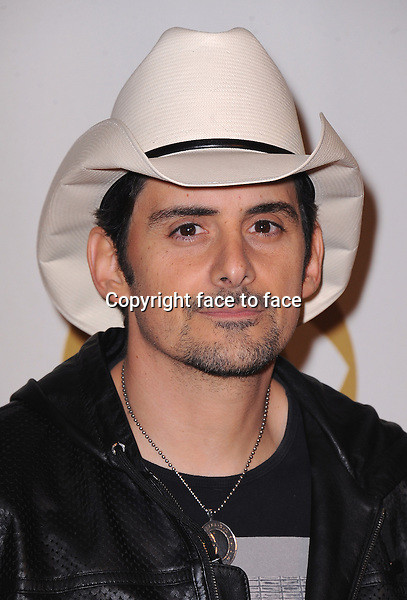 LOS ANGELES, CA - JANUARY 27:  Brad Paisley arrives at &quot;The Night That Changed America: A Grammy Salute to The Beatles&quot; at the Los Angeles Convention Center West Hall on January 27, 2014 in Los Angeles, California. <br />