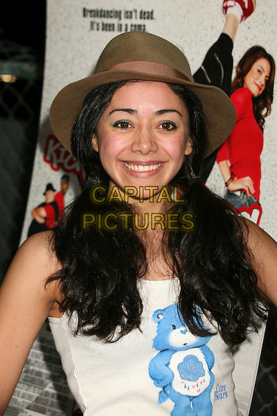 "AIMEE GARCIA .""Kickin' It Old Skool"" Los Angeles Premiere Party at the Music Box Theatre, Hollywood, California, USA..April 25th, 2007.headshot portrait ponytails pigtails brown fedora hat .CAP/ADM/BP.©Byron Purvis/AdMedia/Capital Pictures"