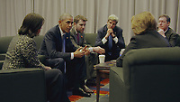 The Final Year (2017)<br /> President Barack Obama, Secretary of State John Kerry <br /> *Filmstill - Editorial Use Only*<br /> CAP/KFS<br /> Image supplied by Capital Pictures