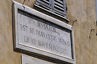 France/Corse/Corse-du-Sud/2A/Ajaccio: Plaque Napoléon dans la rue Fesch