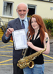 14-08-2013: Vicky Moynihan, Faha, Killarney,  who received eight A ones in her Leaving Certificate, pictured with school Principal Cormac Bonner  at Presentation Secondary School Miltown, Co, Kerry on Wednesday.   Picture: Eamonn Keogh (MacMonagle, Killarney)