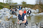 Sean O'Rourke chairman of the River Maine and Brown Flesk anglers association at the new Salmon Weir at Kilmurry bridge Cordal on Sunday front row l-r: John Reidy, John Nolan, Danny Healy Rae. middle row: Damian Dillon, Jimmy O'Donoghue, Dan Leary, Sean O'Donoghue Back row: Nathan O'Rourke, David Dillon, Liam Courtney, Michael Cronin, Eamon Ford and Bart Hickey