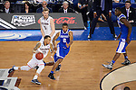 07 APR 2014: Shabazz Napier (13) dribbles downcourt against Aaron Harrison (2) of the University of Connecticut takes on the University of Kentucky during the 2014 NCAA Men's DI Basketball Final Four Championship at AT&T Stadium in Arlington, TX.  Connecticut defeated Kentucky 60-54 to win the national title. Brett Wilhelm/NCAA Photos