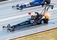 Jul 23, 2017; Morrison, CO, USA; NHRA top fuel driver Clay Millican during the Mile High Nationals at Bandimere Speedway. Mandatory Credit: Mark J. Rebilas-USA TODAY Sports