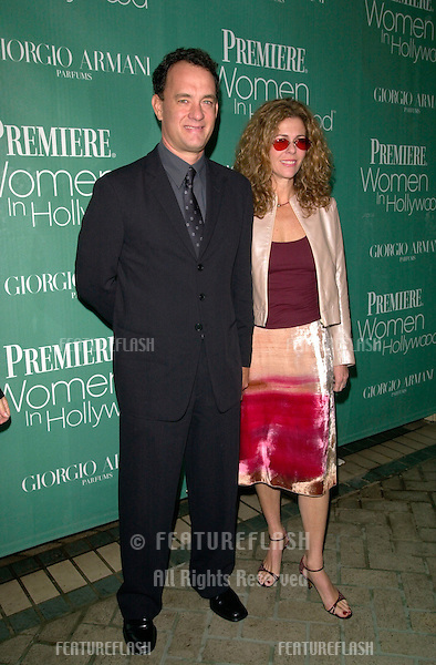 Actor TOM HANKS & actress wife RITA WILSON at Premiere Magazine's 7th Annual Women in Hollywood Luncheon at the Four Seasons Hotel, Beverly Hills..11OCT2000. © Paul Smith / Featureflash