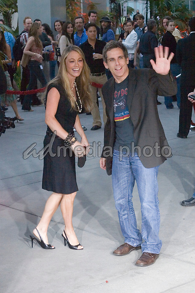 "11 August 2005 - Los Angeles, California - Christine Taylor and Ben Stiller.  ""The 40 Year-Old Virgin"" Los Angeles Premiere held at the Arclight Cinema.  Photo Credit: Zach Lipp/AdMedia"