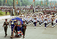 Decorated elephant leads military parade in Colombo, Sri Lanka