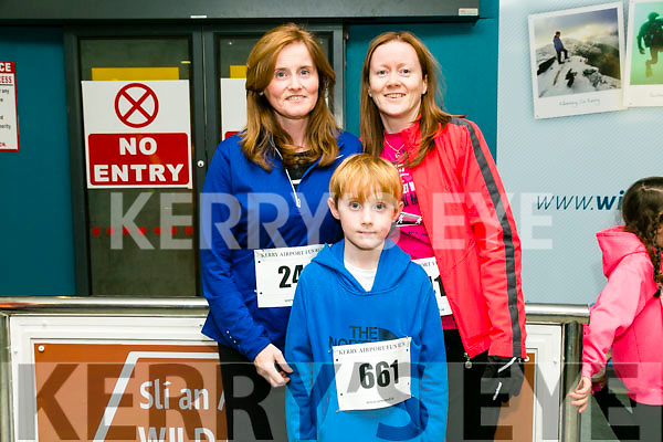 Tracy O'Sullivan, Eoin O'Sullivan, Frances Quinn, from Killarney at the Kerry Airport Runway 5k Fun Run 7th October in aid of Cystic Fibrosis supported by The Rugby clubs of West Munster sponsored by Garveys Supervalu Group