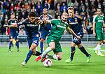 Stockholm 2015-02-16 Fotboll Tr&auml;ningsmatch Hammarby IF - LA Galaxy :  <br /> Hammarbys Kennedy Bakircioglu i kamp om bollen med La Galaxys Edson Buddle under matchen mellan Hammarby IF och LA Galaxy <br /> (Foto: Kenta J&ouml;nsson) Nyckelord:  Fotboll Tr&auml;ningsmatch Tele2 Arena Hammarby HIF Bajen Los Angeles LA Galaxy