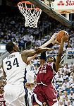 March 1, 2012: New Mexico State Aggies guard Daniel Mullings tries to get off a shot against the Nevada Wolf Pack during their NCAA basketball game played at Lawlor Events Center on Thursday night in Reno, Nevada.