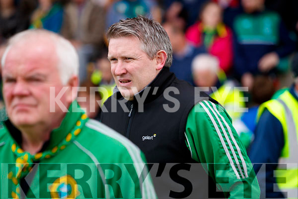Mark Foley Lixnaw Trainer. Ballyduff in action against  Lixnaw in the Senior County Hurling Final in Austin Stack Park on Sunday