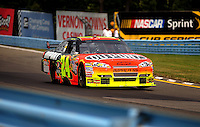 Aug. 8, 2009; Watkins Glen, NY, USA; NASCAR Sprint Cup Series driver Jeff Gordon during practice for the Heluva Good at the Glen. Mandatory Credit: Mark J. Rebilas-