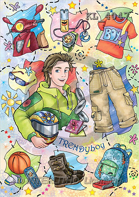 Interlitho, Dani, TEENAGERS, paintings, trendy boy(KL4047,#J#) Jugendliche, jóvenes, illustrations, pinturas ,everyday