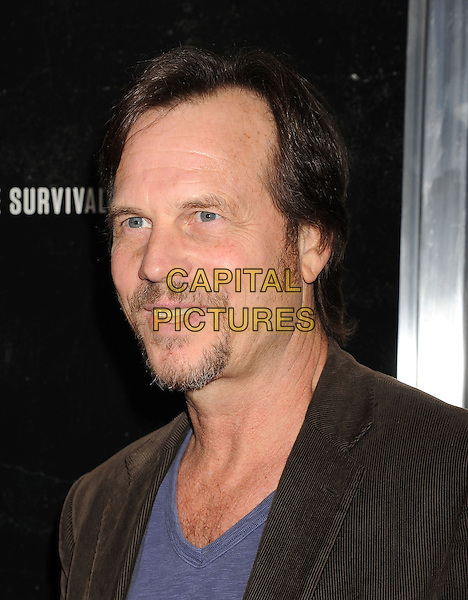 Bill Paxton<br /> Premiere of &quot;Captain Phillips&quot; held at the Academy of Motion Picture Arts and Sciences, Beverly Hills, California, USA.<br /> September 30th, 2013<br /> headshot portrait blue top brown suit jacket goatee facial hair <br /> CAP/ROT/TM<br /> &copy;Tony Michaels/Roth Stock/Capital Pictures