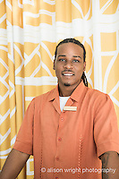 The Caribbean, Anguilla. Malliouhana Hotel & Spa. Burnell Hodge at the desk.