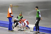 SCHAATSEN: HEERENVEEN: IJsstadion Thialf, 17-06-2013, Training zomerijs, Team Pursuit, Arie Koops, Koen Verweij, Jan Blokhuijsen, Sven Kramer, ©foto Martin de Jong