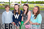 Pictured at the Kingdom Greyhound Stadium Holy Family School night at the dogs on Saturday night were from left: Marcus Nolan, Aisling McLoughlin, Michelle McKenna and Laurie O'Shea Murphy all from Tralee.