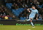 Aleksander Kolarov of Manchester City takes free kick - Barclays Premier League - Manchester City vs Newcastle Utd - Etihad Stadium - Manchester - England - 21st February 2015 - Picture Simon Bellis/Sportimage