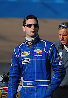 Nov. 13, 2009; Avondale, AZ, USA; NASCAR Camping World Truck Series driver Richard Harriman during qualifying prior to the Lucas Oil 150 at Phoenix International Raceway. Mandatory Credit: Mark J. Rebilas-