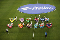 San Jose, CA - Wednesday September 19, 2018: Mexican Heritage Night, Center Circle during a Major League Soccer (MLS) match between the San Jose Earthquakes and Atlanta United FC at Avaya Stadium.