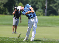 Potomac, MD - July 1, 2018: Bronson Burgoon hits the ball from the rough during final round at the Quicken Loans National Tournament at TPC Potomac  in Potomac, MD, July 1, 2018.  (Photo by Elliott Brown/Media Images International)