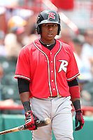 Richmond Flying Squirrels Francisco Peguero #49 during a game against the Erie Seawolves at Jerry Uht Park on July 27, 2011 in Erie, Pennsylvania.  Richmond defeated Erie 4-2.  (Mike Janes/Four Seam Images)