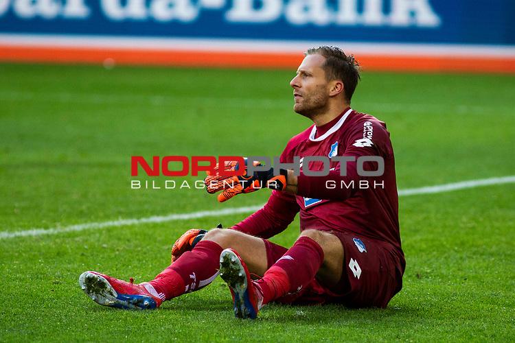 09.02.2019, Signal Iduna Park, Dortmund, GER, 1.FBL, Borussia Dortmund vs TSG 1899 Hoffenheim, DFL REGULATIONS PROHIBIT ANY USE OF PHOTOGRAPHS AS IMAGE SEQUENCES AND/OR QUASI-VIDEO<br /> <br /> im Bild | picture shows:<br /> Oliver Baumann (Hoffenheim #1) ist enttäuscht / wütend nach dem zweiten Gegentor,  <br /> <br /> Foto © nordphoto / Rauch