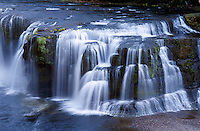 Lower Lewis River Falls in Washington's Gifford Pinchot National Forest.  Located in Washington's coastal range.